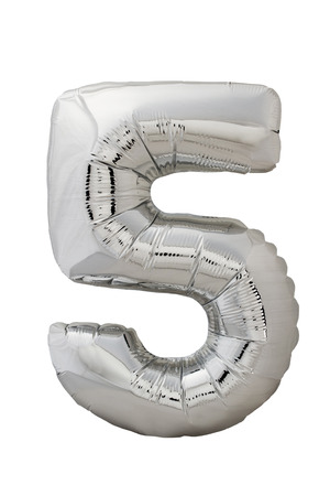 Number five silver balloon photo photo