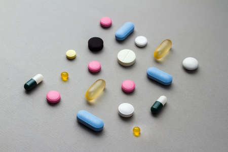 antidepressants: Set of tablets, pills and drugs