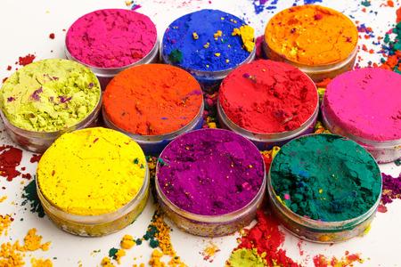 インドのホーリー祭色 写真素材