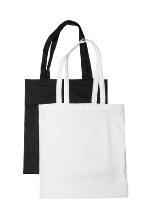白い背景に分離された再利用可能な袋