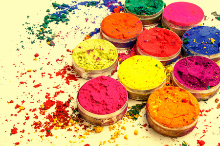 Colorful Indian powder Stock Photo