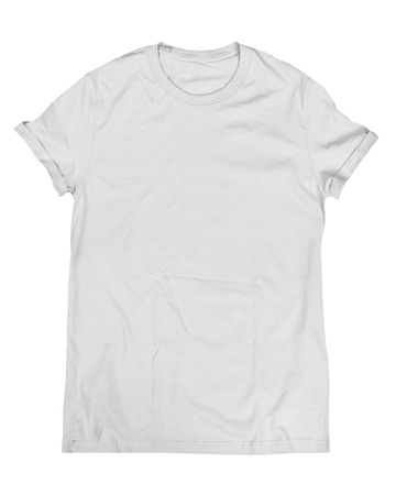 Gray t-shirt isolated on a white background photo