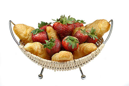 Croissants and strawberrys