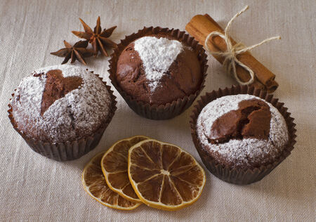 Muffins and spices photo