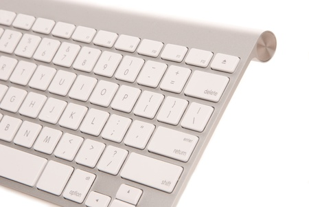 modern computer keyboard isolated on white background Stock Photo - 8652418