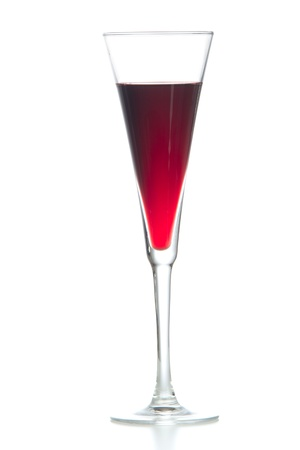 blue hawaiian drink: Red alcohol cosmopolitan cocktail  in martini cocktails glass isolated on a white background