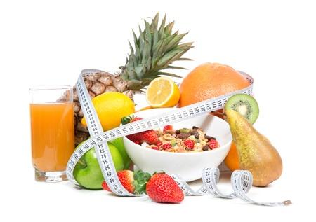 Dieet gewichtsverlies ontbijtconcept Stockfoto - 18092313