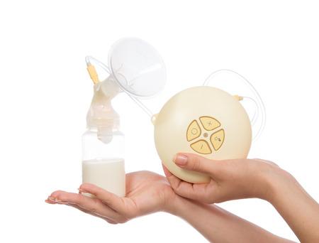 Nieuwe compacte elektrische borstkolf om melkproductie te verhogen voor borstvoedende moeder en kind zuigfles met moedermelk