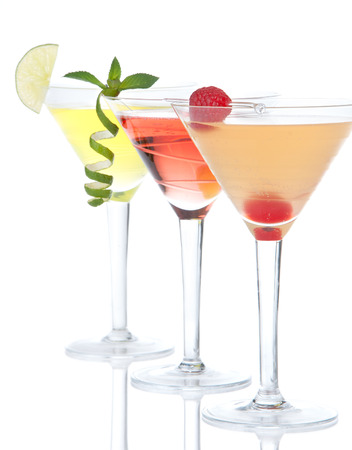 Popular alcoholic cocktails composition.