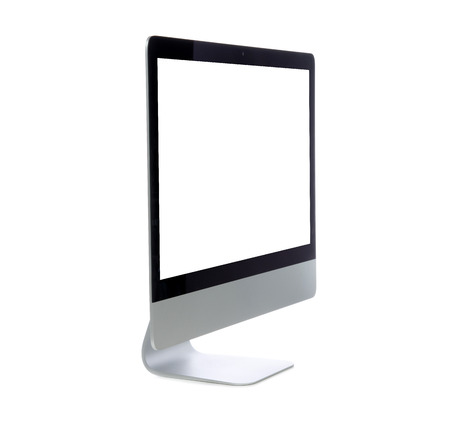 New monitor computer display side view isolated on a white background photo