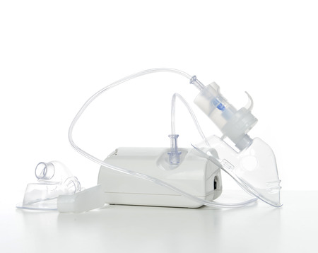 Nebulizer for respiratory inhaler asthma treatment on a white background