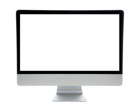 myszy: Nowy monitor komputerowy siatkówki z pustego ekranu na białym tle