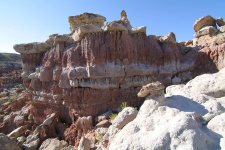 Gooseberry Creek Badlands, Wyoming 版權商用圖片