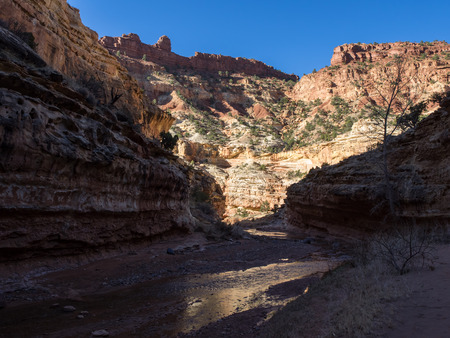 sulphur: Sulphur Creek Canyon Stock Photo