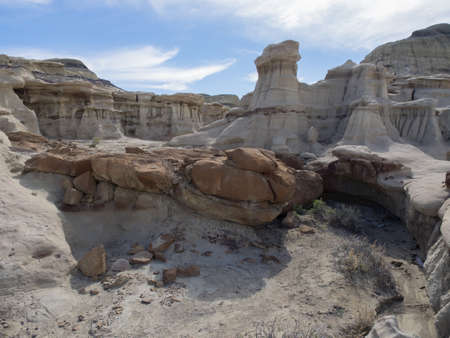 badlands: Bisti Badlands Stock Photo