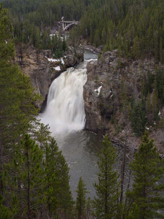 upper: Upper Yellowstone Falls Stock Photo