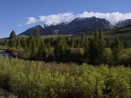 sawtooth national forest: Boulder Mountains Stock Photo
