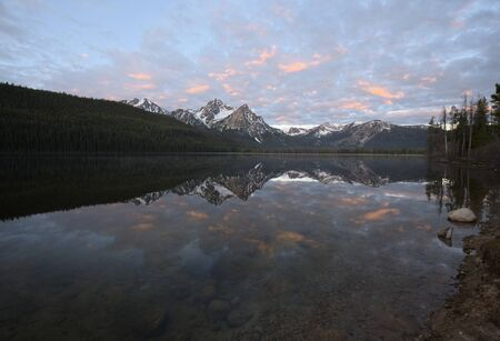stanley: Stanley Lake Stock Photo