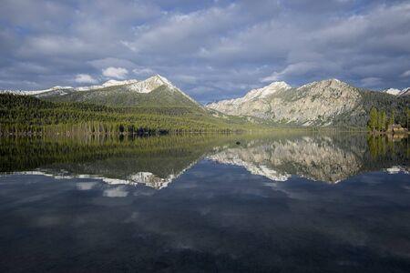 sawtooth national forest: Pettit Lake Stock Photo