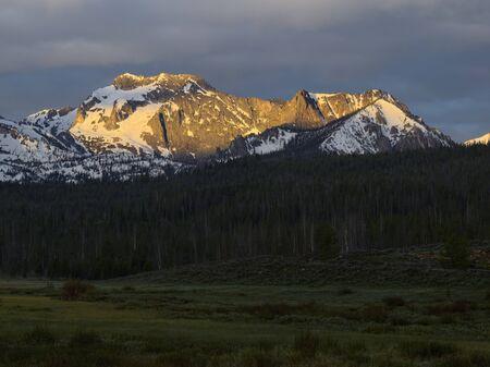 sawtooth national forest: Merritt Peak Stock Photo