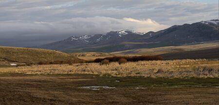 idaho: Arbon Valley and Bannock Range, Idaho Stock Photo