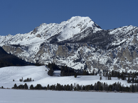 Sawtooth Mountains in Winter