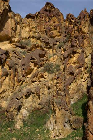 レスリー ・ ガルチのハニカム形成 写真素材