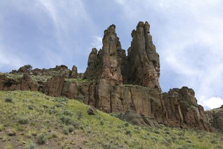 Hoodoos in Jarbidge Canyon Imagens - 55617794