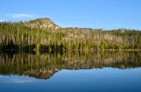Upper Twin Lake, Wallowa Mountains Фото со стока