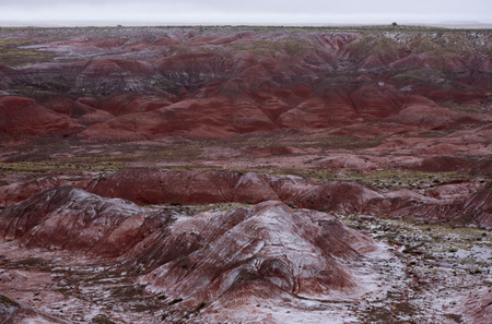 Snow on the Painted Desert