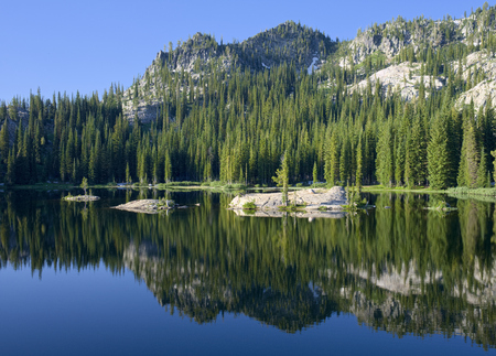 Blue Lake in the Council Mountains of Idaho