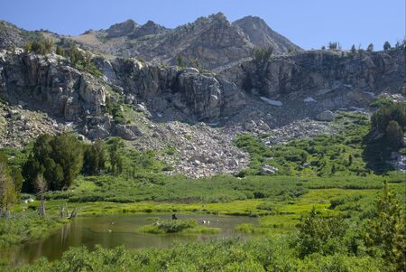 Pond in the Ruby Mountains Фото со стока