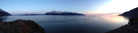 This is the Cook Inlet right outside if Anchorage Alaska