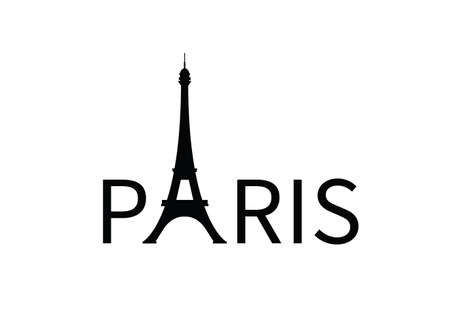 Paris France Eiffel Tower symbol vector illustration