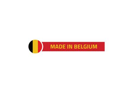 Belgium flag made in vector illustration Ilustracja
