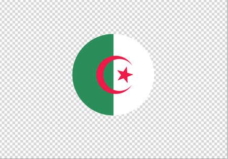 Algeria flag circle vector illustration Illustration