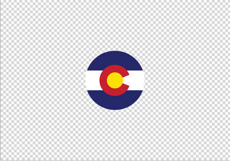 Colorado flag circle vector illustration