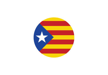 Catalonia flag circle vector illustration