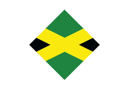 Jamaica flag diamond vector illustration