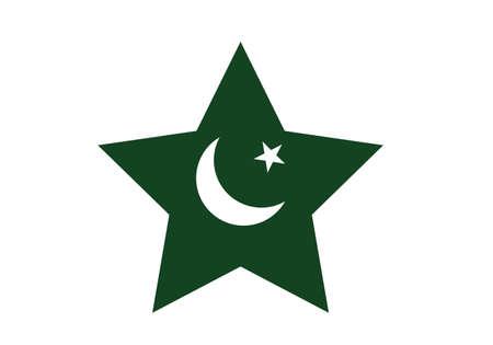 Pakistan flag star vector illustration Banco de Imagens - 154363097
