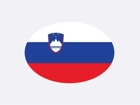 Slovenia flag oval circle vector illustration