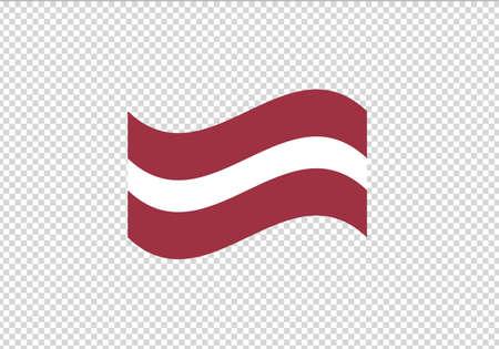 Latvia flag waving vector illustration