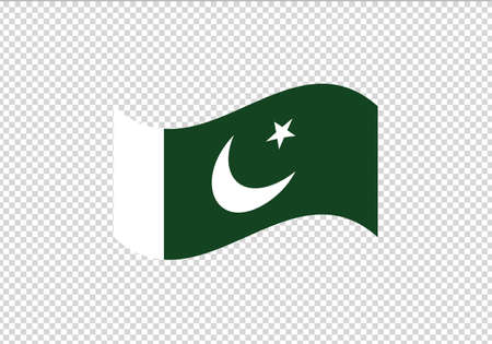 Pakistan flag waving vector illustration