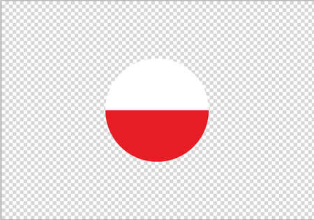 Poland flag circle vector illustration