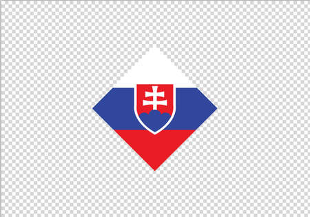 Slovakia flag diamond vector illustration