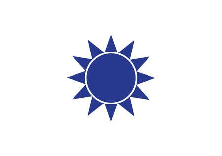 Taiwan flag symbol star vector illustration