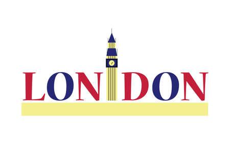 Big Ben London architecture tower vector illustration