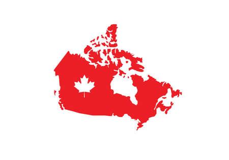 Canada map flag vector illustration