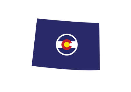 Colorado map flag vector illustration