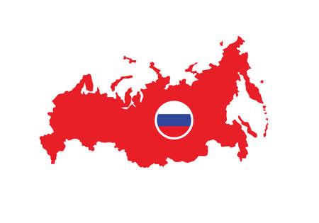 Russia map flag vector illustration Ilustración de vector